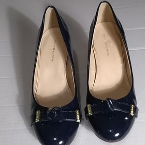 TOMMY HILFIGER NAVY BOW PUMPS